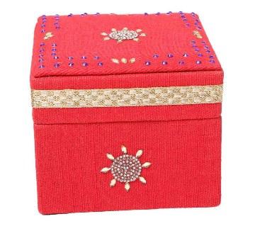 Jute made Jewelry Box - Red