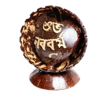 Shuvo Nobobosho Hand Made Coconut Shell Show Piece