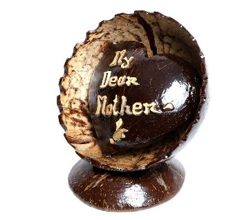 My Dear Mother Hand Made Coconut Shell Show Piece