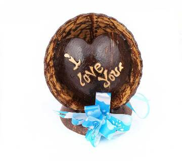 I love you Coconut Shell Made Show Piece