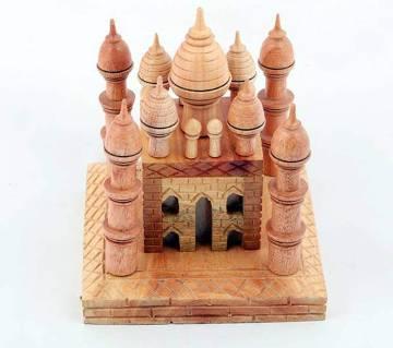 Hand Craft Wooden Taj mahal Show Piece