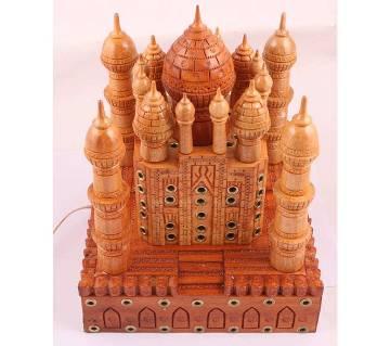 Handcrafted Wooden Artwork Taj Mahal Showpiece
