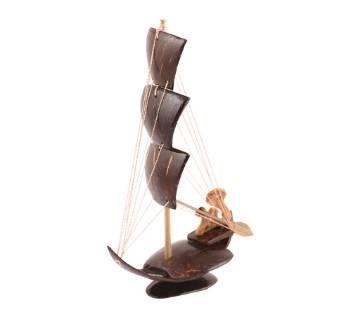 Three sail boat show-piece