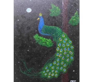 Peacock Handmade Painting