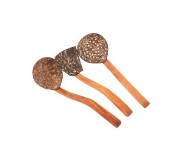 Coconut shell kitchen Spoon Set
