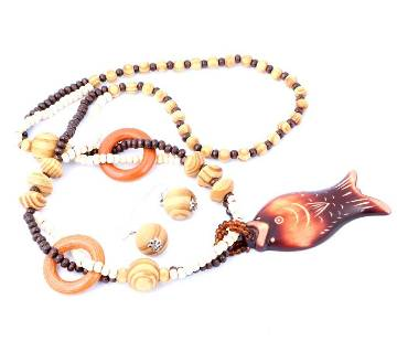Bead and Wooden Necklace