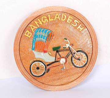 Hand Crafted Wooden Rickshaw Show-Peace