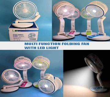 Foldable Rechargeable Fan and LED Light