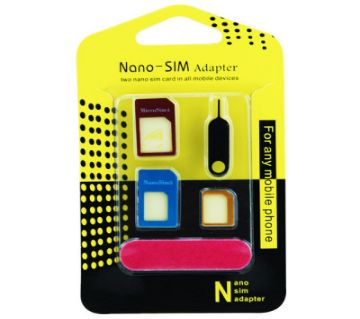 5 in 1 Nano Sim Adapter Converter