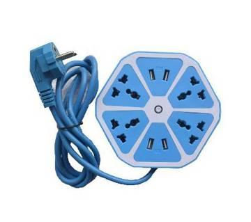 হেক্সাগন মাল্টিপ্লাগ উইথ ৪ পোর্ট USB