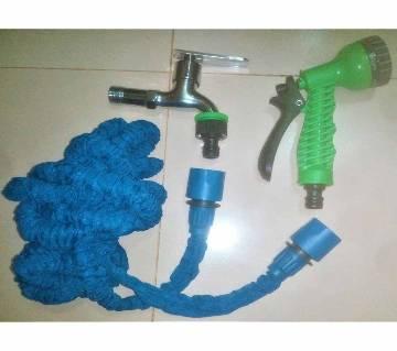 Magic Hose Pipe-30 Feet, Water Tap, Connectors & Water Gun for Car/Bike Wash, Garden, Irrigation