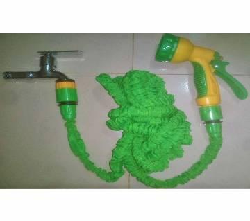 Magic Hose Pipe-50 Feet, Water Tap, Connectors & Water Gun for Car/Bike Wash, Garden, Irrigation