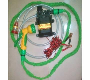 Car Washer Pump High Speed, DC-12V, 100W, Magic Pipe-25 Feet Full Setup for Car Washing, Garden, Irrigation & Medicine Spray,