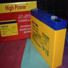 Rechargeable Battery-DC-6Volt/7AH