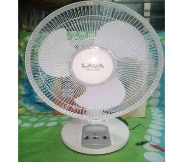 LAVA Solar Battery Powered DC Fan with Light KM-5012DP