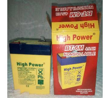 High Power Battery-DC-6 Volt.