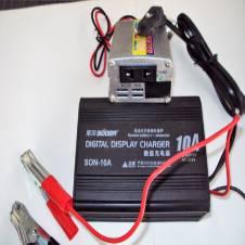 Power Inverter/IPS-200Watt & Battery Charger-10Amp Set