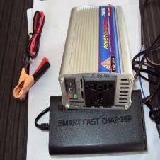 পাওয়ার ইনভার্টার-3০০Watt+ব্যাটারি চার্জার-৫Amp Set