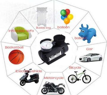 Air Compressor(Mini ) DC-12 Volt for Car,Motorcycle,Bicycle,Football,Balloon,Air bed air filling pump