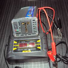 Power Inverter/IPS-500Watt & Battery Charger-10Amp Set