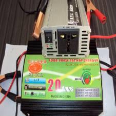 পাওয়ার ইনভার্টার-5০০Watt+ব্যাটারি চার্জার-20Amp Set
