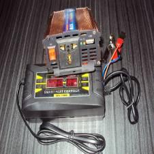 Power Inverter/IPS-600Watt & Battery Charger-6Amp Set