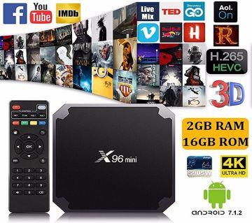 Smart X96 Mini Android TV Box, Wi-Fi, 2GB RAM, 16GB ROM for CRT TV, LCD TV, LED TV, Monitor, Projectors.