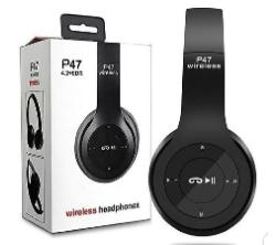P47 wireless buletooth Headphones ( Black )