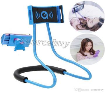 Neck Cell Phone Holder 360 Degree Mobile Stand multicolor