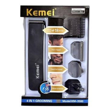 Kemei KM 3580 4 in 1 Rechargeable  Grooming Kit