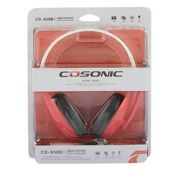 Cosonic CD-650D Headphone – Red