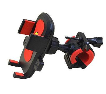 Motorcycle and Bicycle Mobile Phone Stand - Red and Black