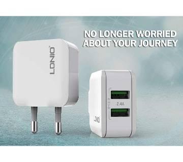LDNIO 2.4A 2 USB চার্জার অ্যাডাপ্টার