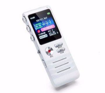 8GB ডিজিটাল HD ভয়েস রেকর্ডার ডাবল মাইক্রোফোন