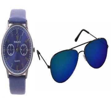 Rolex copy sunglass and wrist watch combo offer