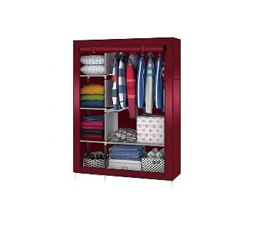 Stainless steel and fabric storage wardrobe