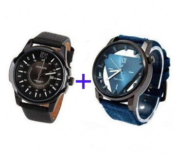 Curren + Fastrack (Copy) Wristwatch Combo Offer