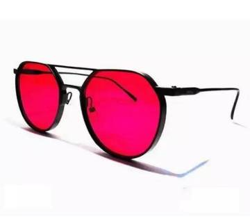 RED Metal Frame High quality Sunglasses for Men