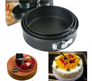 Round Shaped Cake Mould (3 pieces)