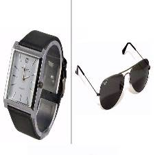 Combo of TITAN GENTS Watch + Ray ban Sun glass Copy