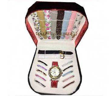 11 in 1 Changeable Dial ladies Watch