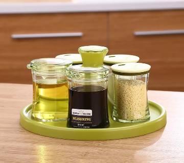 Spoon Kitchen Storage Bottles Salt Jar