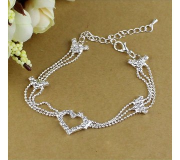 Heart shaped anklet(1 pc)