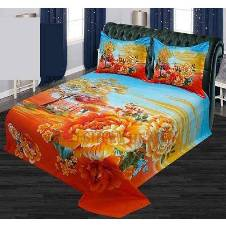 Cotton Double Size Bed Sheet - Set of 3 Pieces