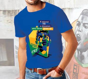 Christiano Ronaldo Blue T-shirt