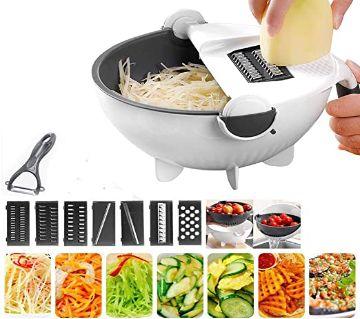 Multifunctional Rotate Vegetable Slicer with Basket