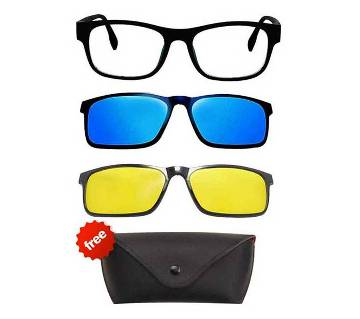 Magnetic 3 in 1 Night vision sunglasses