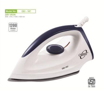 Orpat OEI-187 1200 W Dry Iron  (White)