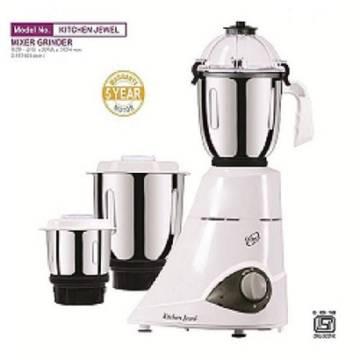 Orpat Kitchen Jewel 900-Watt Mixer Grinder (White)