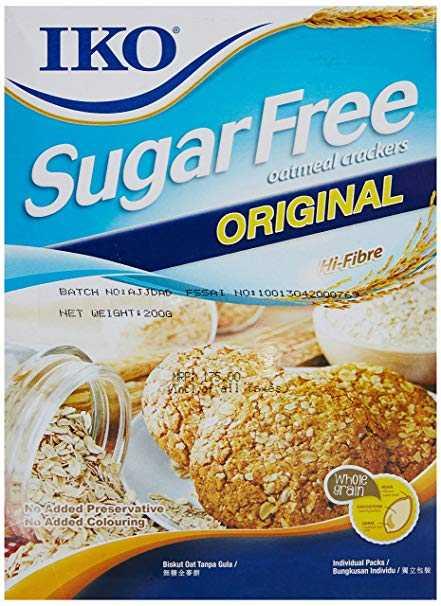IKO Premium Sugar Free Oatmeal Crackers Original 178 gm